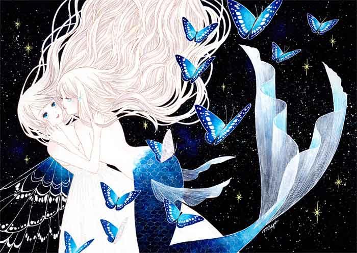 ARTs*LABo 人魚・妖精展2018 公式フライヤーイラスト