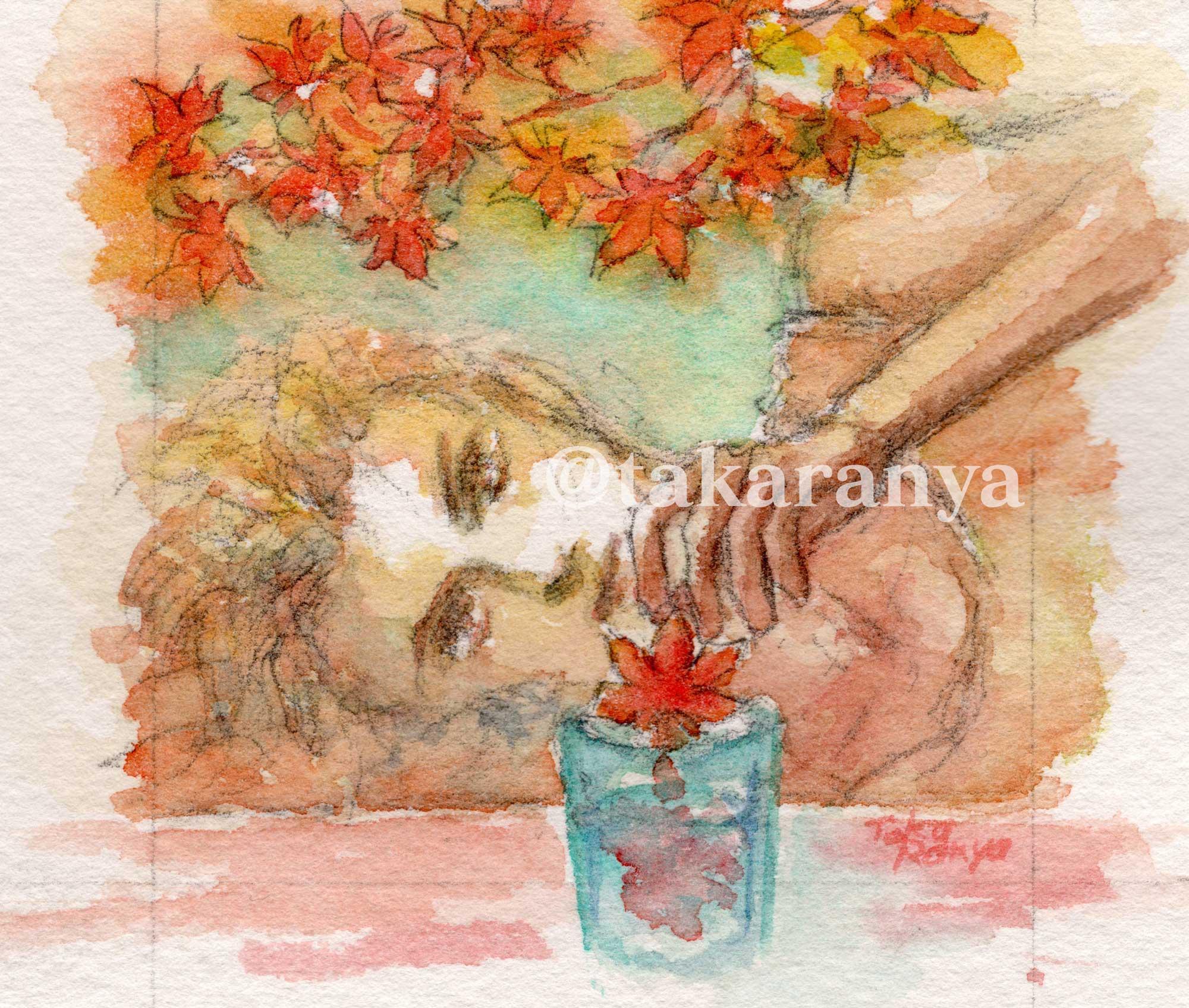 20180919秋麗の色香ミニ原画「あなたの記憶を秋に溶かして」remaster-1200dpi-サイトサムネイル用